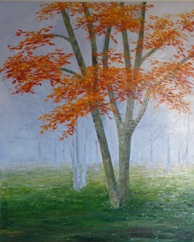 ARBOL Y NIEBLA (65 x 80)