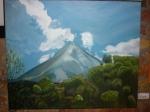 Cuadro de Pepita Manzanares del Volcán Sinabung en Indonesia