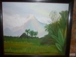 Cuadro de Pepita Manzanares del Volcán Merapi en Indonesia