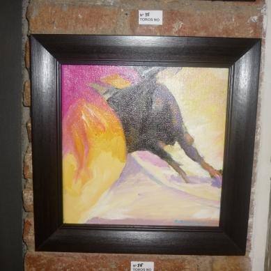 Cuadro de Pepita Manzanares en protesta por las corridas de toros
