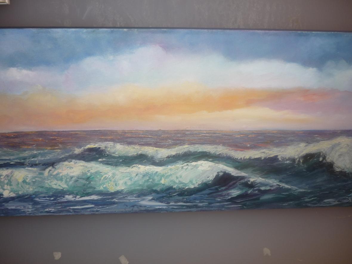 Cuadro de Pepita Manzanares de onas del mar